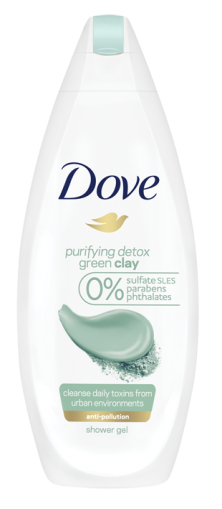 Dove душ гел Green Clay 250ml