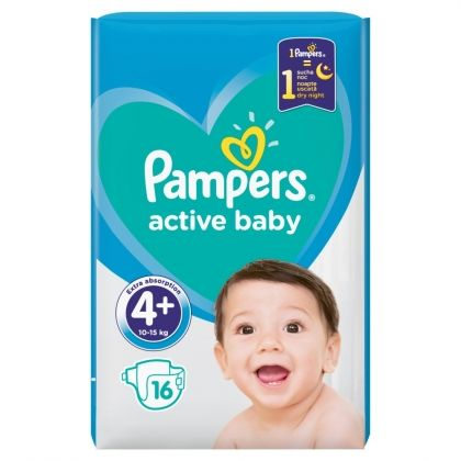 Pampers пелени Active Baby Regular Pack 4P Макси Плюс 16бр